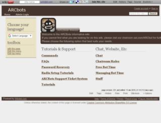 wiki.arcbots.com screenshot