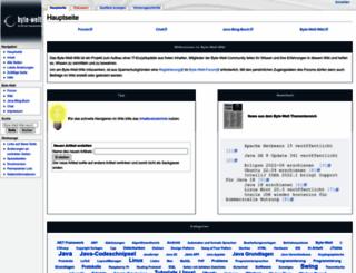 wiki.byte-welt.net screenshot