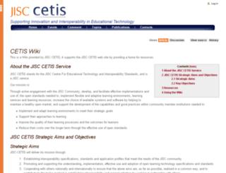 wiki.cetis.ac.uk screenshot