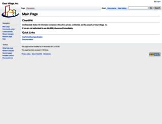 wiki.clearvillageinc.com screenshot