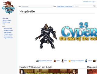 wiki.cyperia.org screenshot