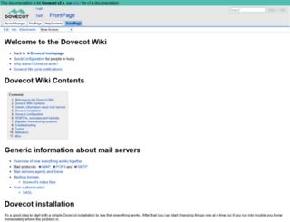 wiki.dovecot.org screenshot