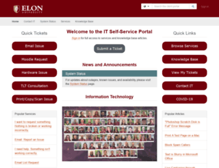 wiki.elon.edu screenshot