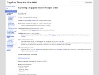 wiki.gigapan.org screenshot