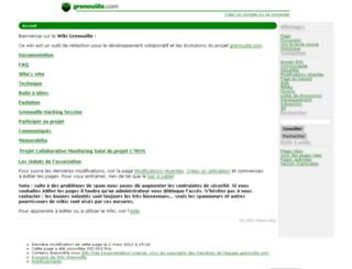 wiki.grenouille.com screenshot