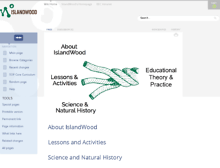 wiki.islandwood.org screenshot