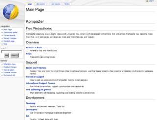 wiki.kompozer.net screenshot