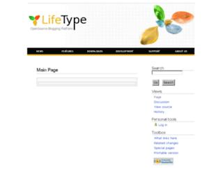 wiki.lifetype.net screenshot