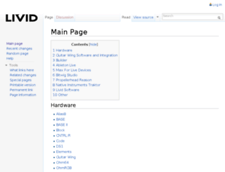 wiki.lividinstruments.com screenshot