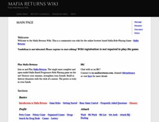 wiki.mafiareturns.com screenshot