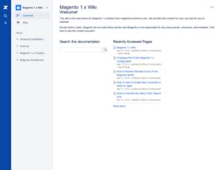 wiki.magento.com screenshot