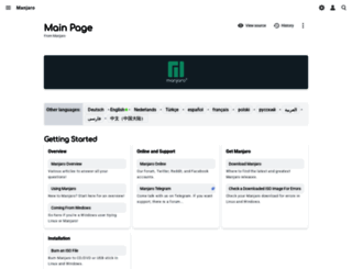 wiki.manjaro.org screenshot