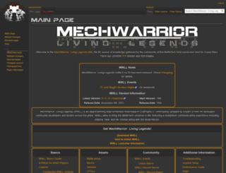 wiki.mechlivinglegends.net screenshot