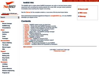 wiki.netbsd.org screenshot