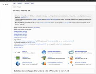 wiki.nuigroup.com screenshot