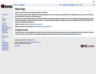wiki.qemu.org screenshot