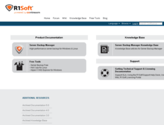 wiki.r1soft.com screenshot