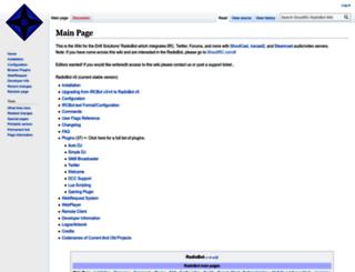 wiki.shoutirc.com screenshot