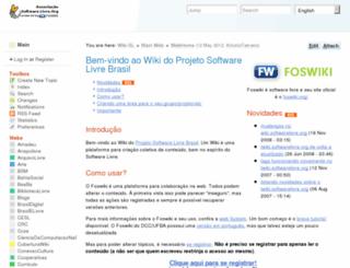 wiki.softwarelivre.org screenshot