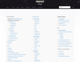 wiki.tripsit.me screenshot