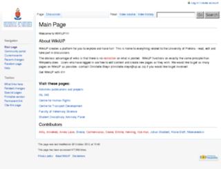 wiki.up.ac.za screenshot