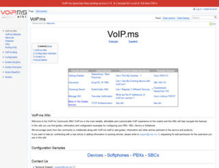 wiki.voip.ms screenshot