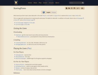 wiki.wesnoth.org screenshot
