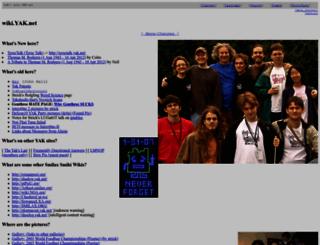 wiki.yak.net screenshot