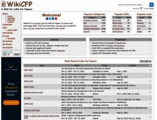 wikicfp.com screenshot