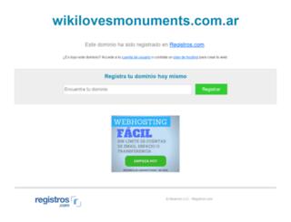 wikilovesmonuments.com.ar screenshot