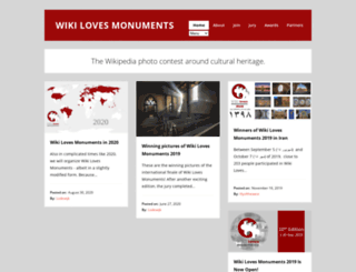 wikilovesmonuments.com screenshot