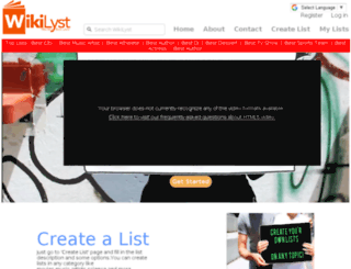 wikilyst.com screenshot