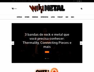 wikimetal.com.br screenshot