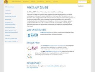 wikis.zum.de screenshot