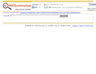 wikisummarizer.com screenshot