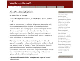 wikituninghighered.iupui.edu screenshot