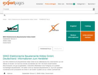 wiko.exportpages.de screenshot
