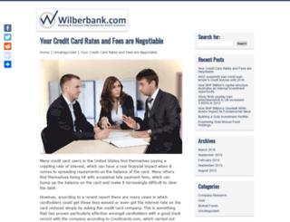 wilberbank.com screenshot