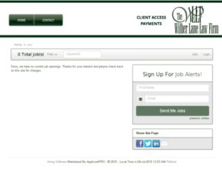 wilberlanelaw.applicantpro.com screenshot