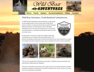 wildboarhunting.ca screenshot