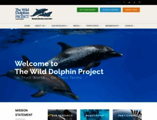 wilddolphinproject.org screenshot