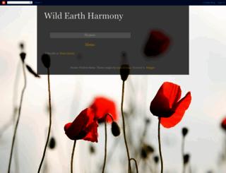 wildearthharmony.blogspot.com screenshot