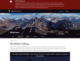 wilderness.nps.gov screenshot