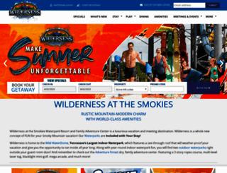 wildernessatthesmokies.com screenshot