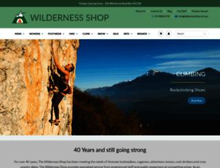 wildernessshop.com.au screenshot