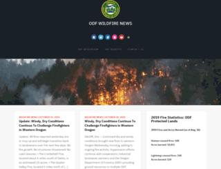 wildfireoregondeptofforestry.blogspot.com screenshot