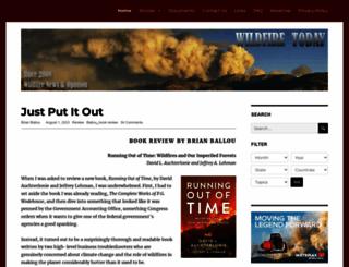 wildfiretoday.com screenshot