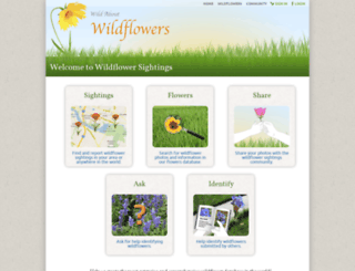 wildflowersightings.org screenshot