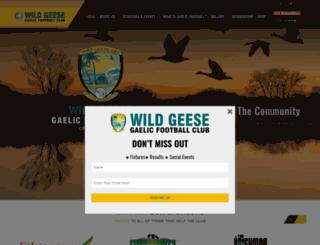 wildgeesegfc.org screenshot