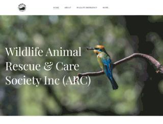 wildlife-arc.org.au screenshot